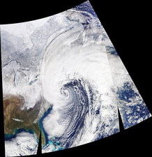 US East coast bomb cyclone, 2018, satellite image