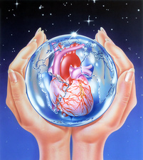 Global heart disease prevention, conceptual image