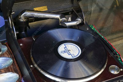 78 record and gramophone