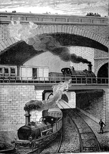 19th Century London Underground, illustration