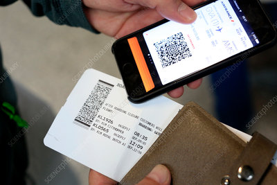 Airport e-ticket on Iphone, Switzerland