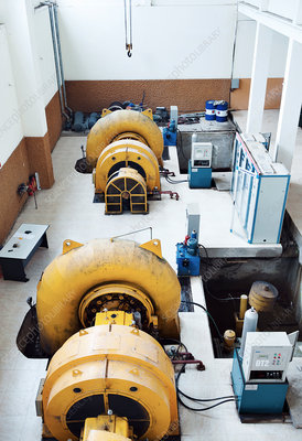 Hydroelectric power station generators