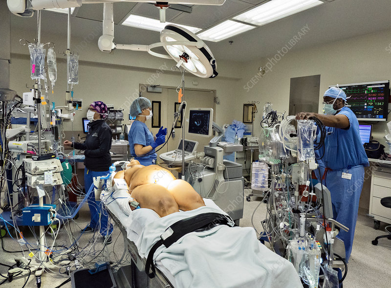 Open Heart Surgery Preparations Stock Image C038 0680