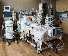 Patient in intensive care unit