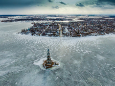 Kalyazin Bell Tower and Uglich Reservoir, Russia