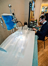 Robotic surgery demonstration, Russia