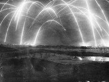 Night drill by British troops, First World War