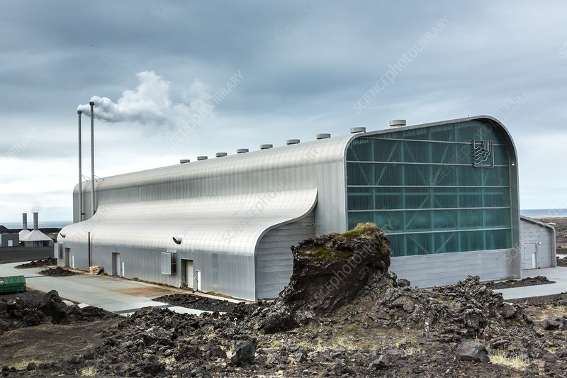 Geothermal power station - Stock Image - C038/1093 - Science