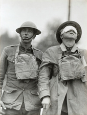 US soldier blinded by gas attack, First World War