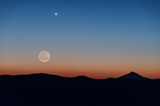 Moon and Venus over Atacama Desert, Chile