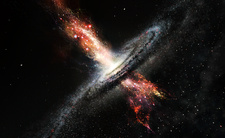 Star formation from black hole ejections, illustration