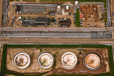 Power plant, aerial photograph