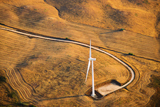 Wind turbine, Spain, aerial photograph