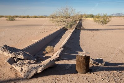 Abandoned irrigation ditch, Arizona, USA