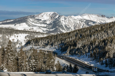 Vail Pass in winter, Colorado, USA