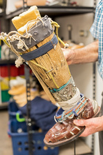 Home-made prosthetic leg, Mexico