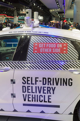 Autonomous pizza delivery vehicle