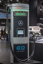 Electric car charging station display