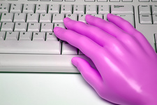 Artificial hand and keyboard