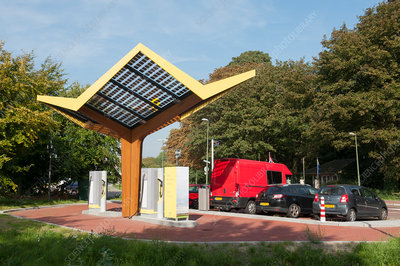 Electric vehicle charging station, Netherlands