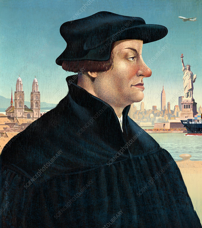 Ulrich Zwingli, Swiss priest and theologian