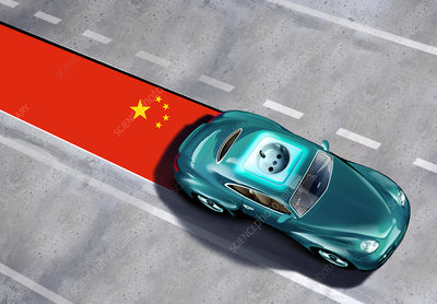 Chinese electric car, conceptual image