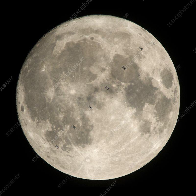 ISS lunar transit, December 2017