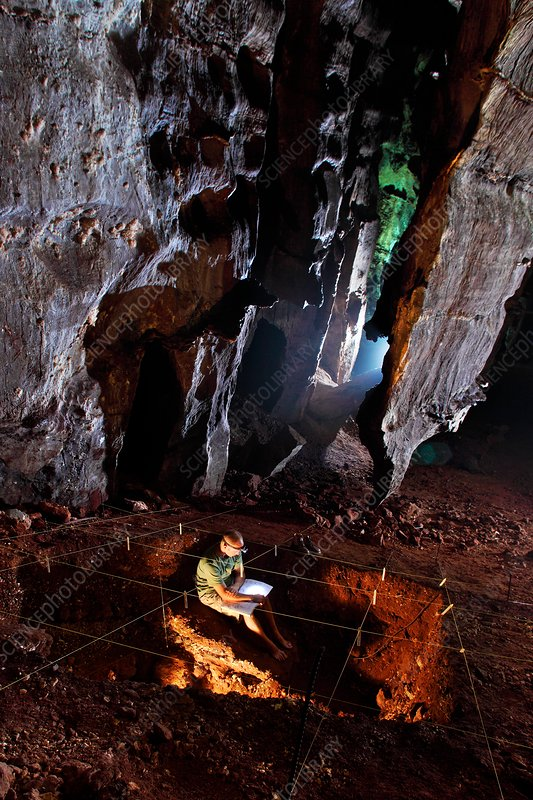 Paleoanthropologist in Sterkfontein Caves, South Africa