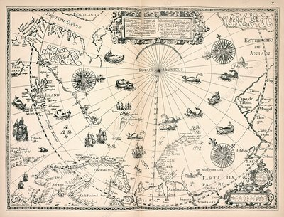 Map of the Arctic, 16th century