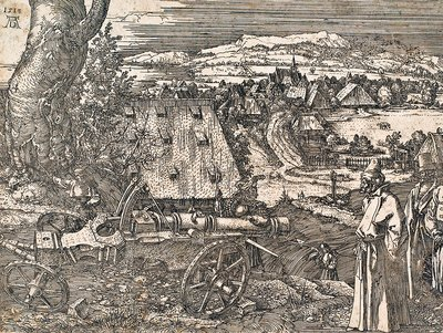 Albrecht Durer's 'Landscape with Cannon', 1518
