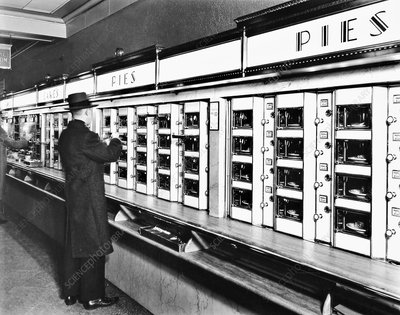 Automat food vending machine, 1936
