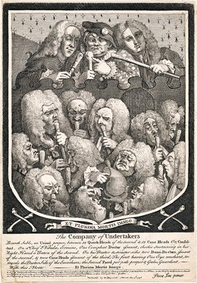 London doctors, 18th-century satirical artwork