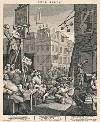 'Beer Street' by William Hogarth, 1751