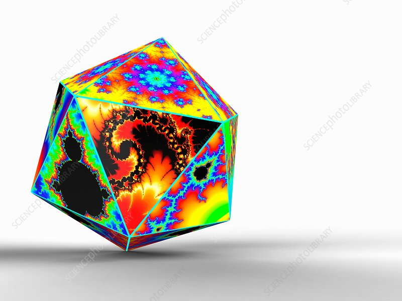 Regular icosahedron, illustration