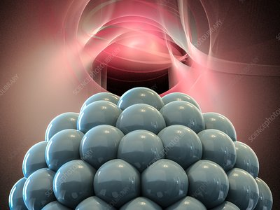 Nanoparticle close-up, illustration