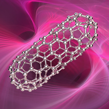 Capped nanotube, illustration