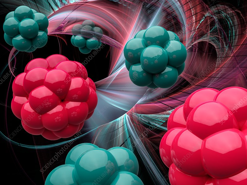 Medical nanoparticles, illustration