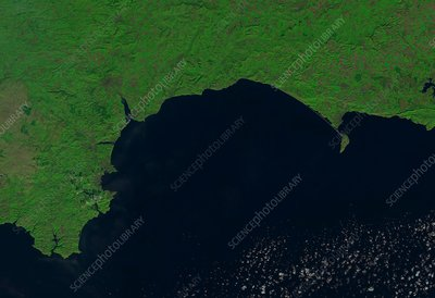 Jurassic Coast, satellite image