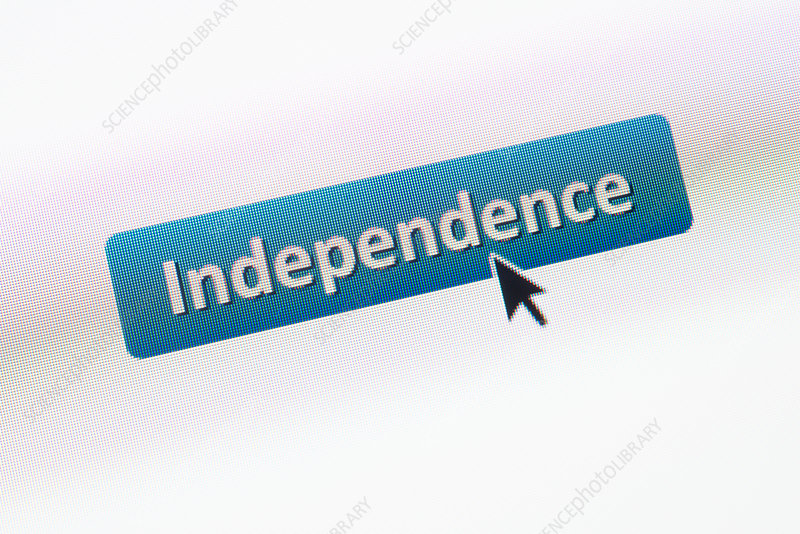 Independence, conceptual image