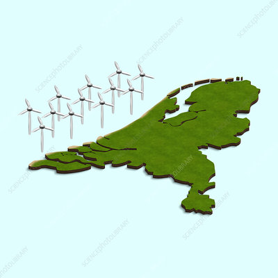 Dutch offshore wind turbines, illustration