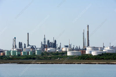 Oil refinery, Fawley, UK