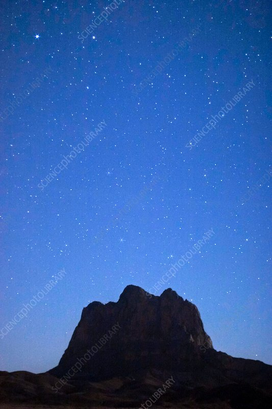 Night sky over Rokhe Shah, Iran