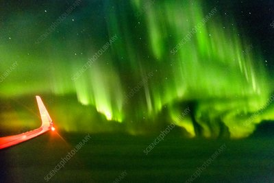 Northern Lights from aeroplane