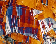 Covellite, thin section micrograph