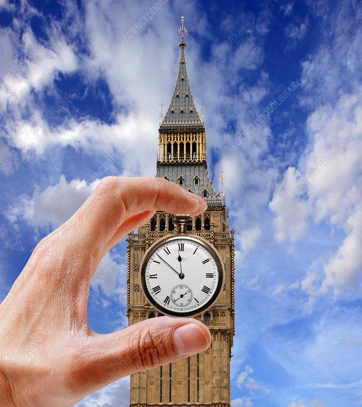 UK government time-keeping, conceptual image