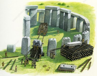 Building Stonehenge, illustration