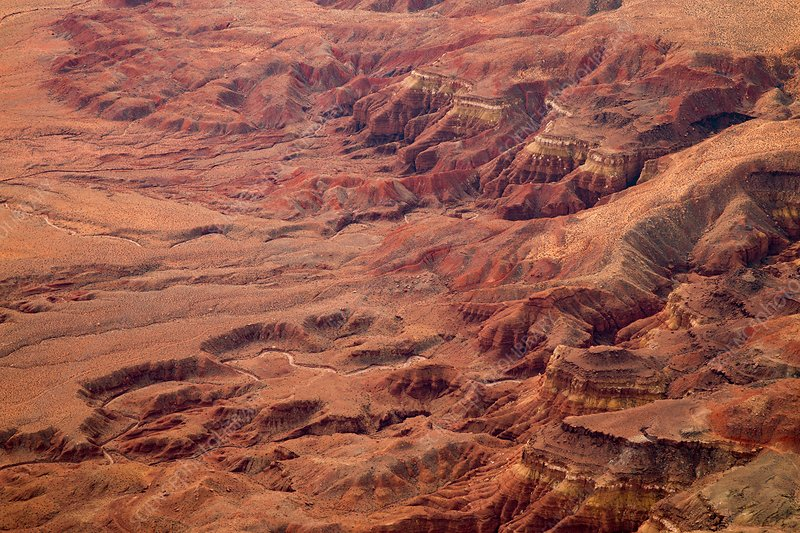 Vermilion cliffs, Arizona, USA, aerial photograph