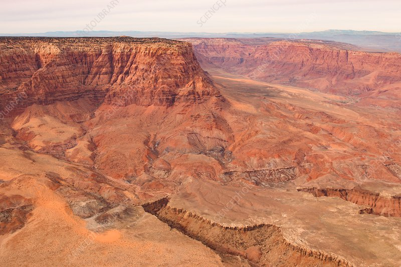 Rock formations, Arizona, USA, aerial photograph