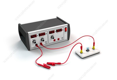 Power supply and electrical circuit, illustration