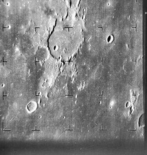 Guericke Crater on the Moon, Ranger 7 image, 1964